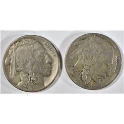 1926-S VG+ & 1927-S VF BUFFALO NICKELS