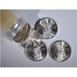 ROLL OF 20-BU 1982 MEXICO 1oz SILVER LIBERTADS