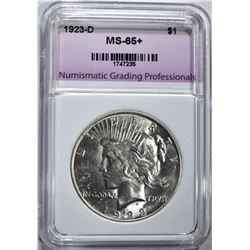 1923-D PEACE DOLLAR, NGP GEM BU+