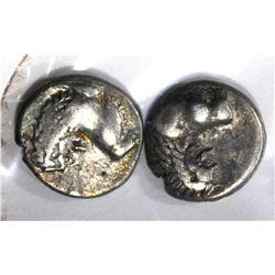 2-GREEK CHERSONESOS THRACE SILVER COINS400-350 bc