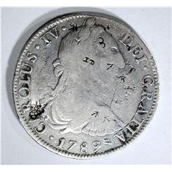 1789 MEXICO 8 REALES chopmarked