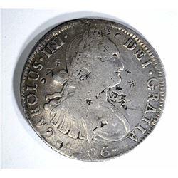 1806 MEXICO 8 REALES chopmarked