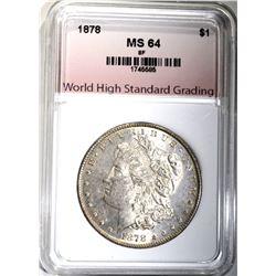 1878 8F MORGAN DOLLAR, WHSG CH/GEM BU