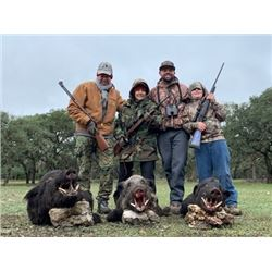 TEXAS - 2 DAY WILD BOAR HUNT FOR 4 HUNTERS