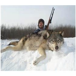 ONTARIO - 7 NIGHT/6 DAY TROPHY WOLF HUNT FOR 1 HUNTER