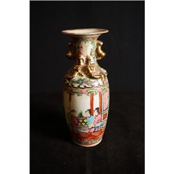 "An Early 20th Century Guangcai Two-Ear ""Figure and Story"" Vase."