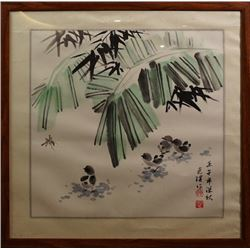 """A Chinese Ink Painting """"Chicken""""."""