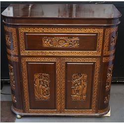 """A Large """"Figure and Story"""" Pattern Cabinet."""