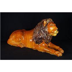 A Large Ceramic Lion Decoration.