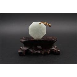 """A Grade-A Laokeng Jadeite """"Bagua"""" Pendant."""