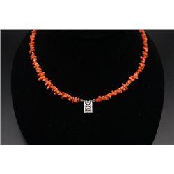 A High Quality Momo Precious Coral Necklace.