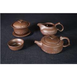 A Group of 5-Piece Tea Sets.