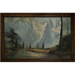 A Landscape Oil Painting by John Greco.