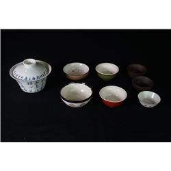 A Group of Eight Tea Cups.