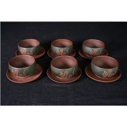 A Group of 12-Piece Tea Sets.