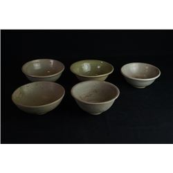 A Group of Five Large Bowls.