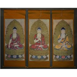"A Group of Three ""Buddha"" Painting Prints."