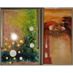 A Group of Two Abstract Paintings.