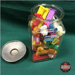 Glass Canister with PEZ Collection