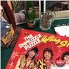 Image 3 : Apples Wood Crate Lot : Bottle Cappers, Pop Bottles, Album Sleeves, Song Hits Magazines, Sunkist Sto