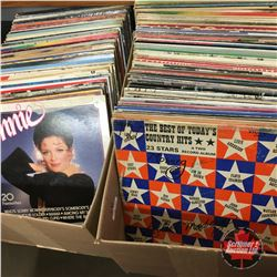 2 Box Lots: Large Collection Record Albums (139 Records - Variety)