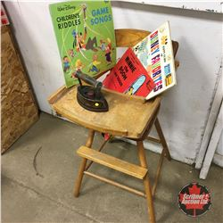 Wooden High Chair (use for Dolls only)