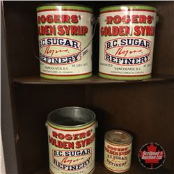 Rogers Syrup Tins (4)