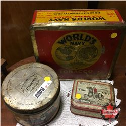 Tobacco Tin Trio: World's Navy & Prince of Wales & Repeater