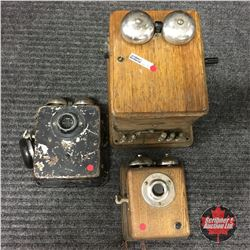 Antique Intercom Ringers (2) & Ringer Box
