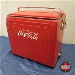 Drink Coca-Cola 1955 Picnic Basket w/Sandwich Tray