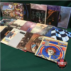 Box Lot: 70's & 80's Record Albums (Variety of 50) : Includes: AC/DC, Johnny Cash, KISS, Queen, Aero
