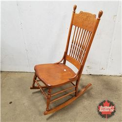 Press Back Rocking Chair 1950