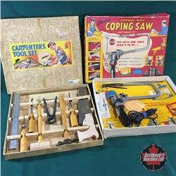 2 Vintage Carpentry Toys in Orig. Boxes
