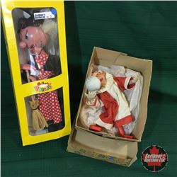 Pelham Puppet in Box & Clown Windup Toy