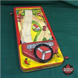 Vintage Tin Toy Driving Game