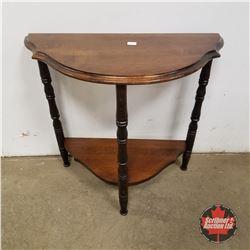 "Small Half Moon Table 1950 (22""H x 24""W x 11""D)"
