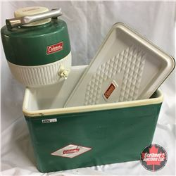Coleman Cooler with Matching Thermos (Green)