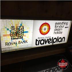 "Light Up Royal Bank ""Travelplan"" Advertising Sign (Motion Light) (12""H x 24""W x 7""D)"