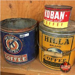 Coffee Tins (3) : Java & Mocha, Koban & Hilla