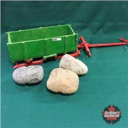 Toy Bobsleigh w/Field Rocks