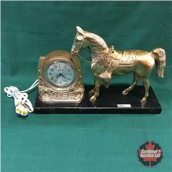 Retro Electric Lincoln Horse Clock