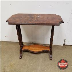 "1960 Walnut End Table (24""H x 26""W x 14""D)"