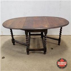 "Drop Leaf Table 1920 (Open : 29""H x 64""W x 42""D)"