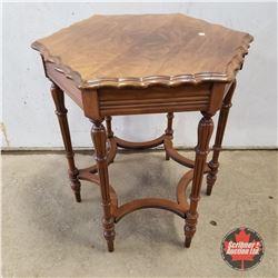 """Walnut Table 1950 (28""""H x 24""""W x 24""""D)"""