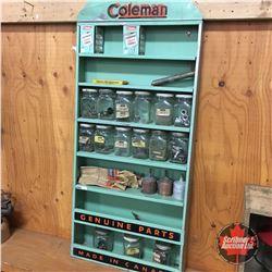 "Coleman Parts Store Display Rack (36""H x 17""W x 4""D)"