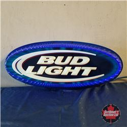 "Sign: Bud Light Oval - Neon (15""H x 35""W)"
