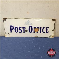 "Sign: Enamel ""Post Office""   (8""H x 20""W)"