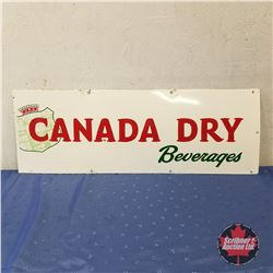 "Sign: Canada Dry Beverages Enamel    (12""H x 34""W)"