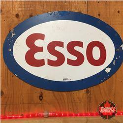 """Sign: ESSO Oval Tin    (16""""H x 24""""W)"""