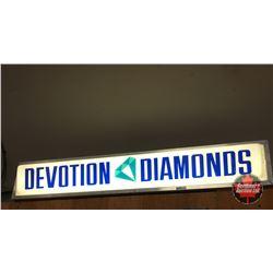 "Sign: ""Devotion Diamonds"" Light Up  (9""H x 48""W x 8""D)"
